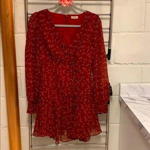 ❤️ Beautiful red floral mini dress